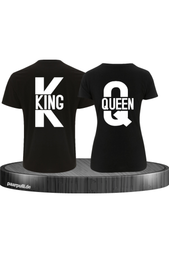 King und Queen Partnerlook T-Shirts