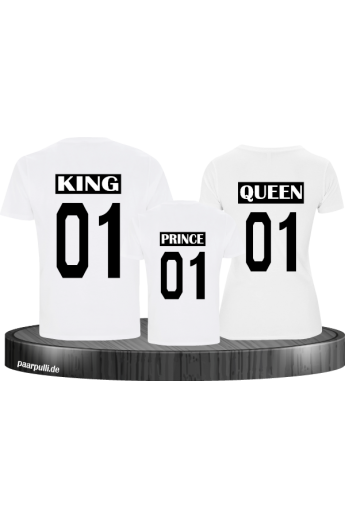 King Queen Prince Familienlook