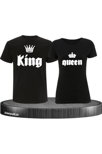 King und Queen mit Krone Partnerlook