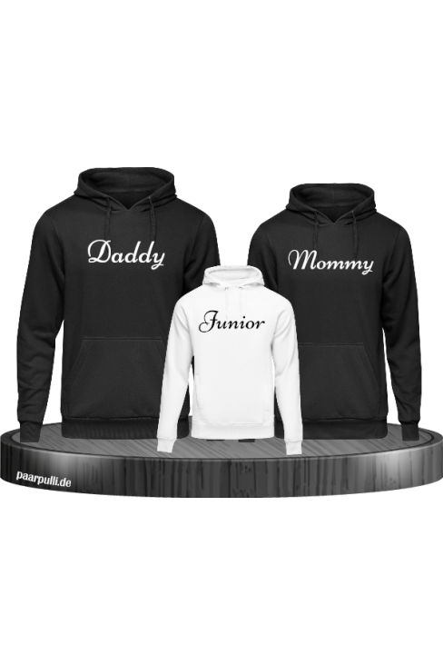 Mommy Daddy Junior Familienlook Hoodie Set