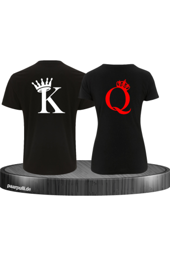 King & Queen T Shirts im Kartenspiel Design