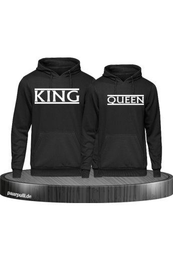 King und Queen Partner Pullover Set