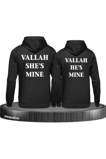 Vallah She's Mine und Vallah He's Mine Pullis