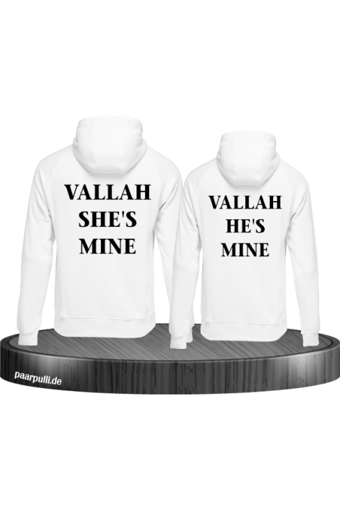 Vallah She's mine und He's mine Partnerlook weiß