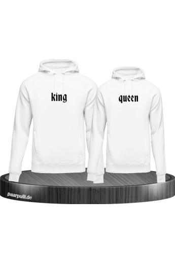 Partnerlook King Queen in weiß