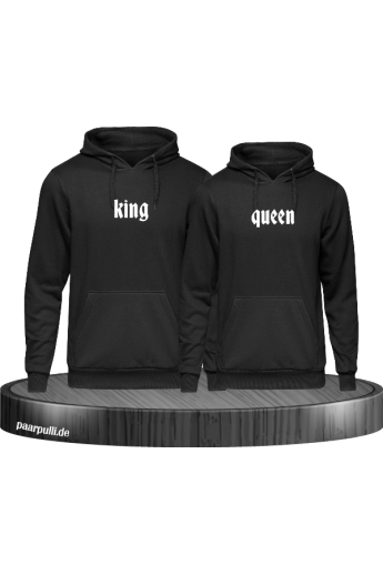 Partnerlook King Queen in schwarz
