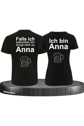 Ich bin besoffen Partner T-Shirts Set