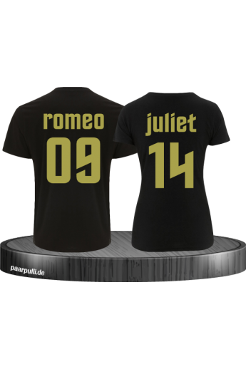 Romeo & Juliet Partnerlook T-Shirt Set