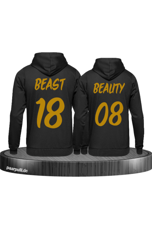Beauty Beast Partnerlook Hoodies