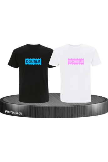 Double Trouble Geschwister T-Shirt Set im Partnerlook