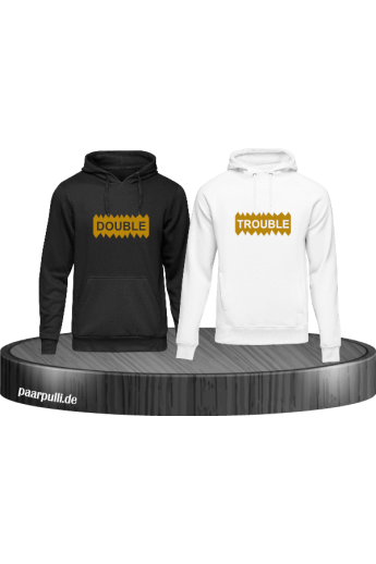 Double Trouble Geschwister Hoodie Set im Partnerlook