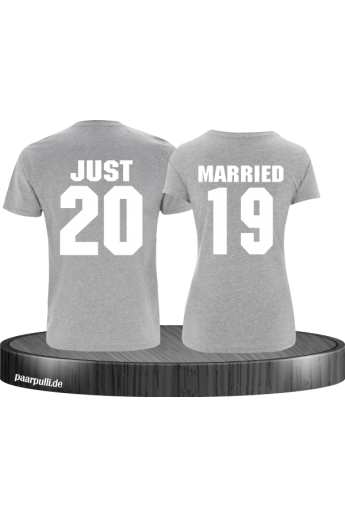 Just married grau couple t shirts