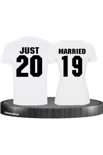 Just married weiß couple t shirts