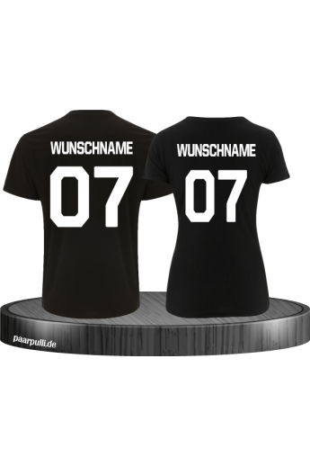 Wunschname Partnerlook T-Shirts