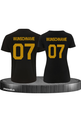 Wunschname Partnerlook Shirts