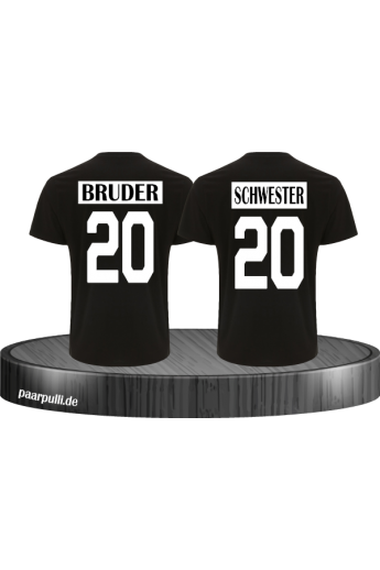 Kinder Partnerlook T-Shirts Bruder Schwester