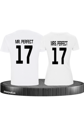 Mr Mrs Perfect Partnerlook T-Shirts