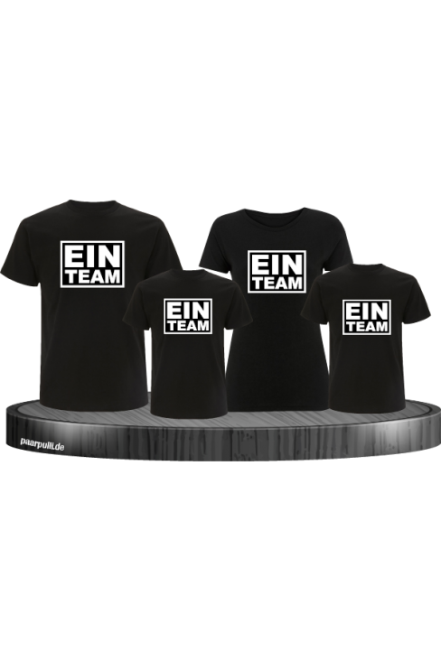 Ein Team familenlook set in schwarz 4 shirts