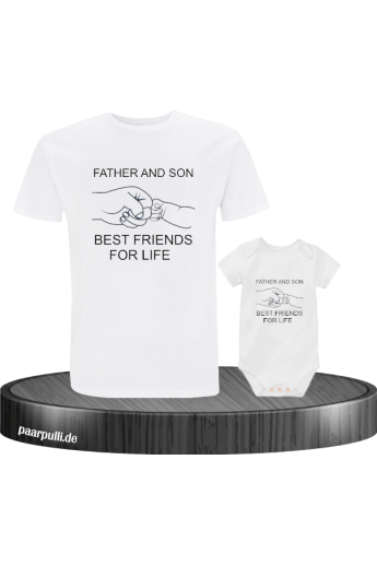 Father and Son Best Friends for Life Familylook