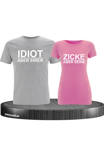 Couple T Shirts Set Idiot Zicke