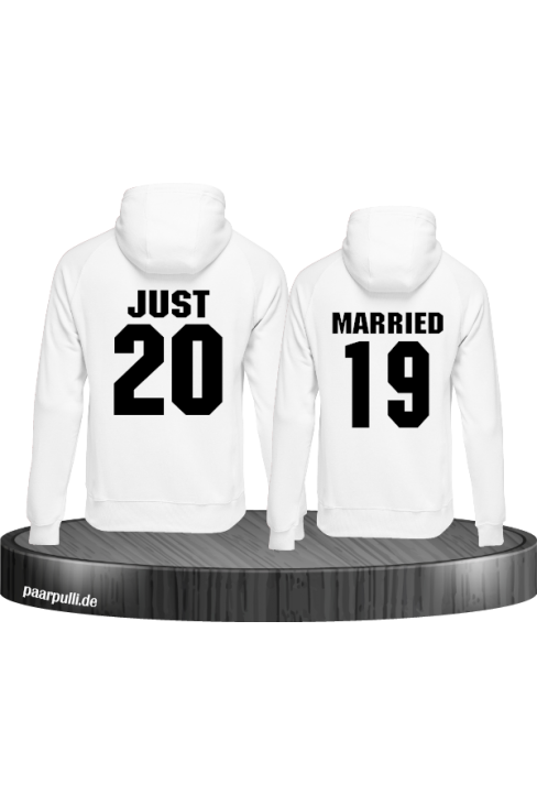 Hoodies Just married weiß hochzeit