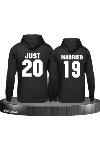 Hoodies Just married schwarz black hochzeit