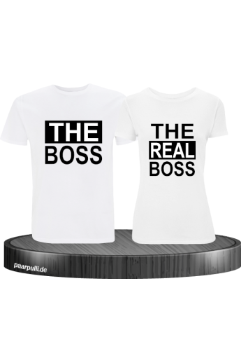 Shirt-Set The Real Boss Partnerlook