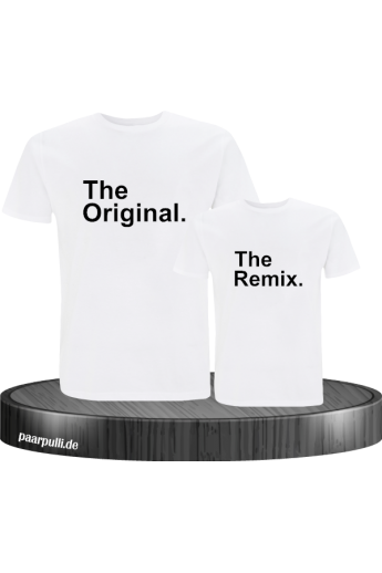 The Original The Remix Vater und Kind T-Shirt Set