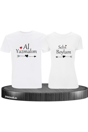 Shirt-Set Al Yazmalim Selvi Boylum Partnerlook