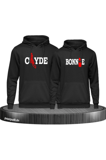 Bonnie Clyde Partnerlook Hoodies