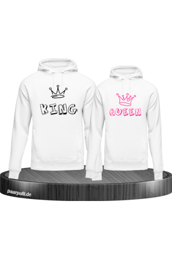 Couple-Hoddie-Set King&Queen im Graffiti Style