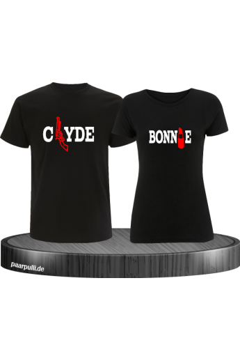 Pärchen-Shirt-Set  Bonnie&Clyde