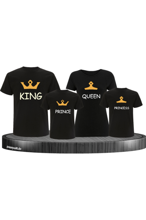 Royal Familien -Set mit King Queen Prince und princess