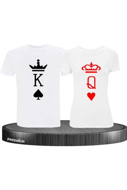 King Queen Partnerlook Set mit K und Q