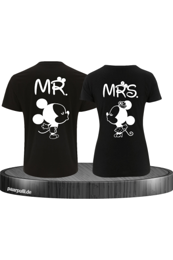 Pärchen-Shirt  MR&MRS  Mickey & Minni Design