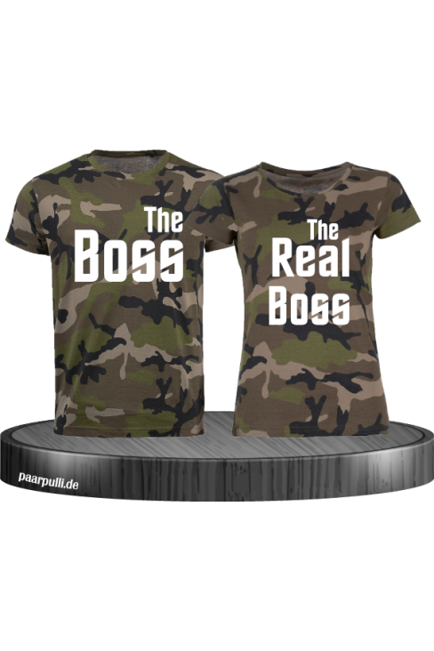 Camouflage-Shirts The Boss/The Real Boss