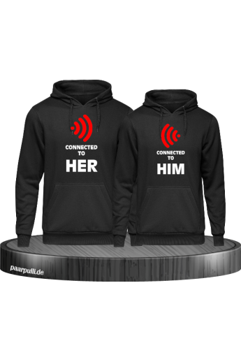 Connected Her Him Pullover - Partnerlook Set