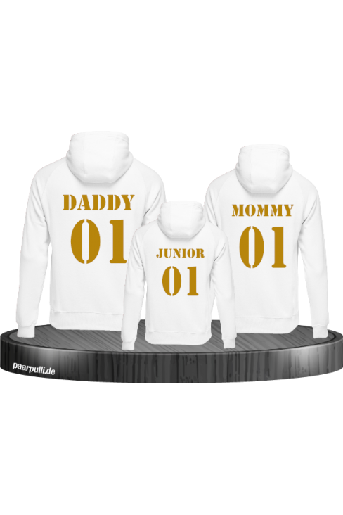 mommy daddy junior family weiß
