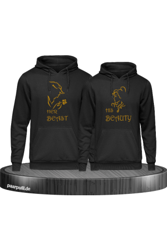 Her Beast His Beauty Hoodie Partnerlook Set