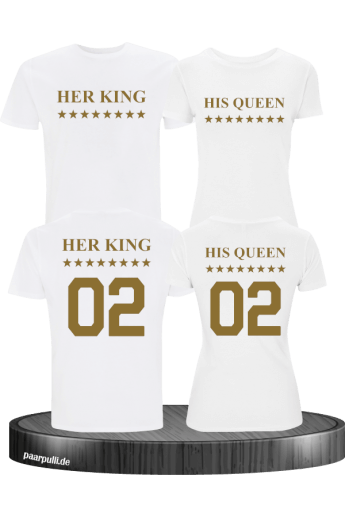 Her King His Queen Partnerlook T-Shirt