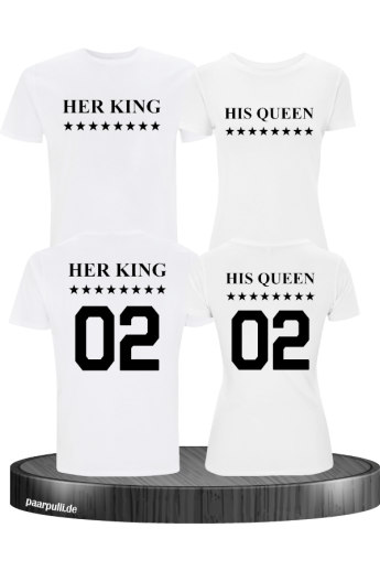 Her King His Queen Partnerlook T Shirts