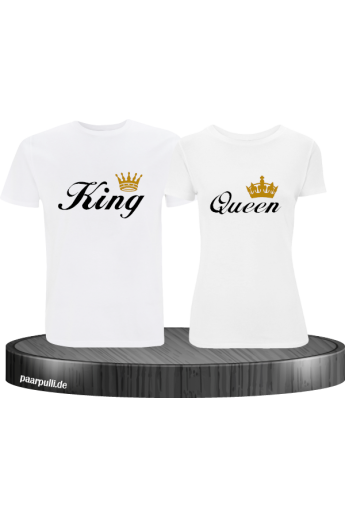 King Queen Partnerlook T-Shirt Set
