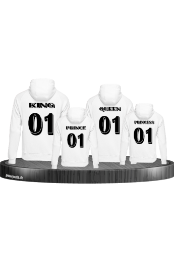 King Queen Prince Princess 3D Familienlook Pullis