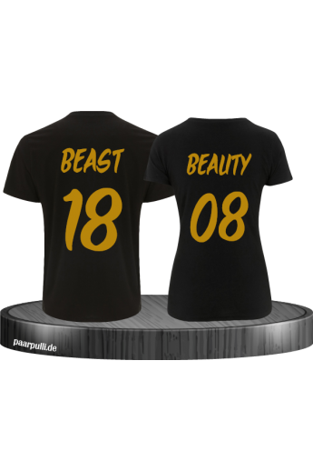Beast and Beauty Partnerlook mit Wunschzahl