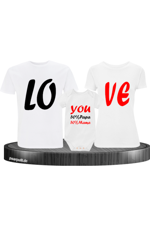 Love You Familienlook T-Shirts