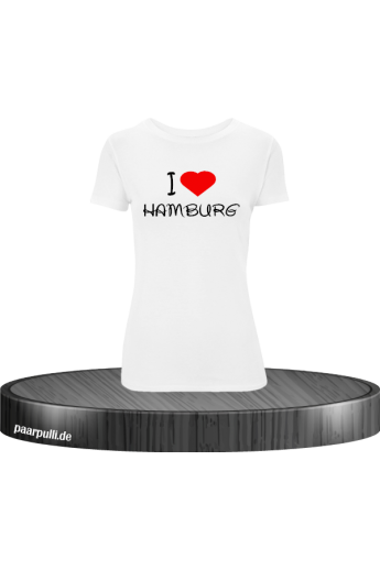 I Love Hamburg bedrucktes T-Shirt