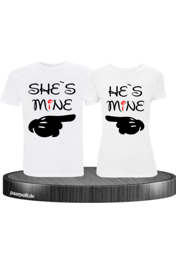 She`s He`s Mine Partnerlook T-Shirts