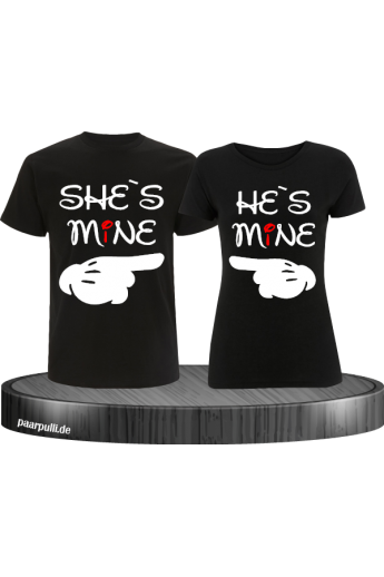 She`s Mine He`s Mine Partnerlook T-Shirts