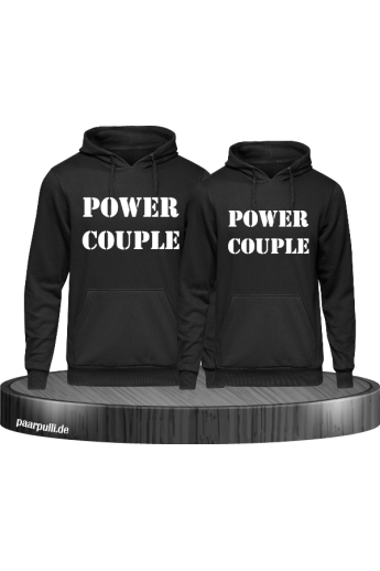 Power Couple Partnerlook Hoodies in schwarz