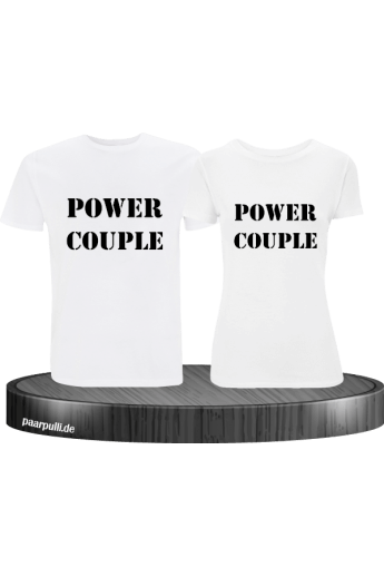 Power Couple TShirt Set in weiß